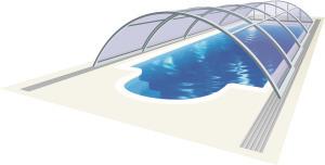Poolüberdachungen AZURE Kompakt