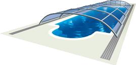 Poolüberdachungen AZURE Flat Kompakt