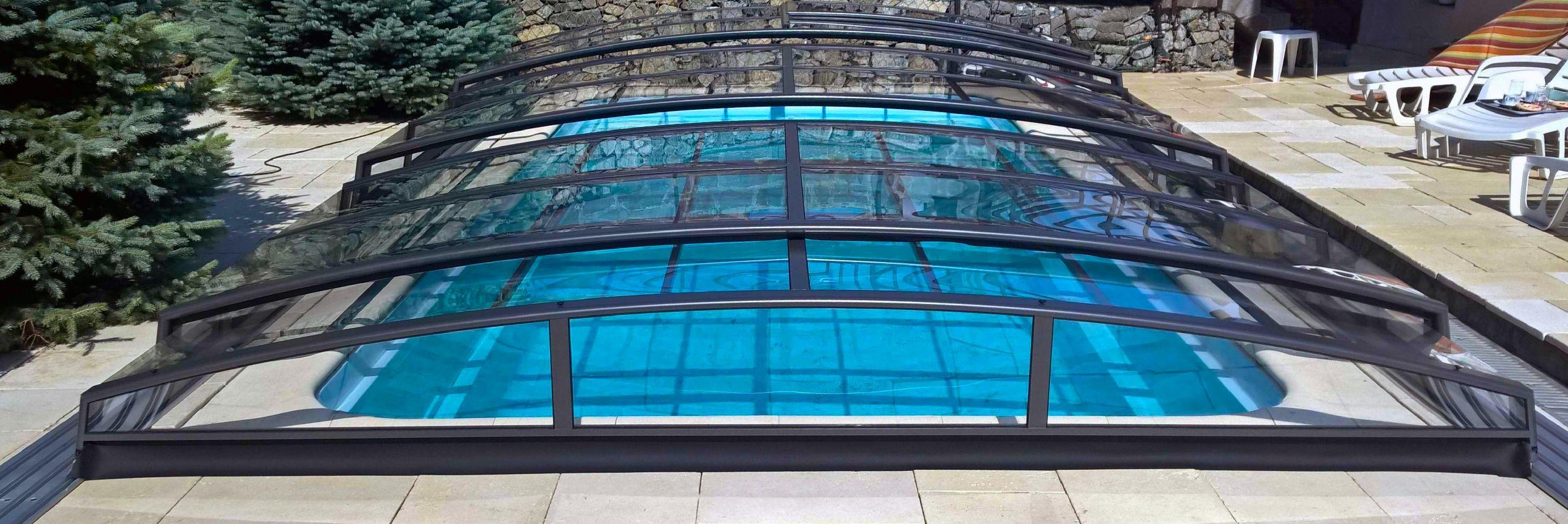 Zastřešení bazénu Azure Angle Kompakt