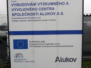 Innovationszentrum in ALUKOV teilweise durch Europäische Dotation finanziert