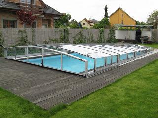 Aufschiebbare Überdachung Für Schwimmbad | CORONA™