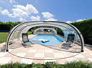 Olympic - Premium Poolüberdachung für Ihne Schwimmbad von Alukov