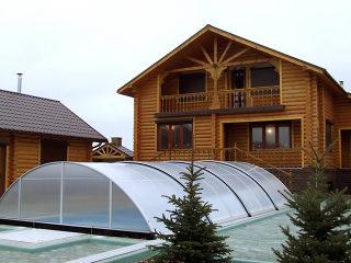 Überdachung UNIVERSE - tradionelle Lösung für Poolüberdachen