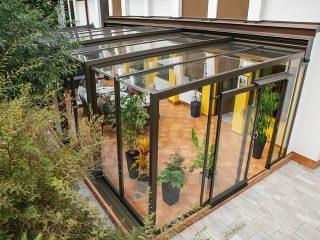 Schiebbare Terrassenüberdachung Corso Glass