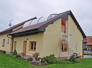Atypische Dachung - panoramatisch Überdachung