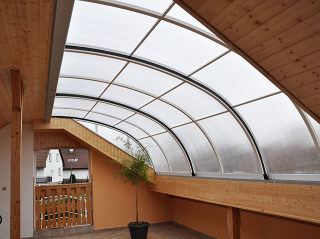 Atypische Terrassenüberdachung für HORECA - Hotel terrasse