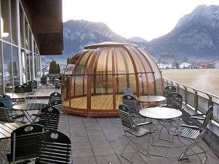 Mit SPA DOME ORLANDO® jahreslang Ihre Terrasse oder Ihren Whirlpool zu genießen