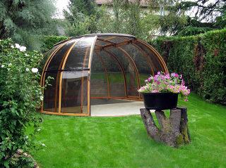 Spa Überdachung GRAND SUNHOUSE® mit Alu-Profilen und Polykarbonat im Racuhton