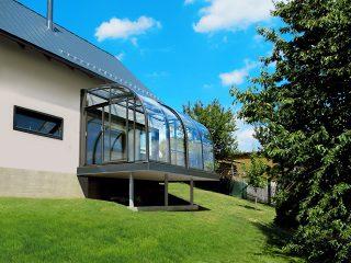 Terrassenüberdachung Corso Entry in Anthrazit DB 703