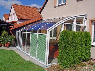 Terrassenüberdachung CORSO Premium im Weiß