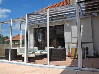 Terrassenüberdachung CORSO in der hellen Variante