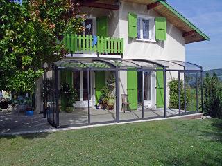 Aufschiebbare Terrassenüberdachung CORSO Premium