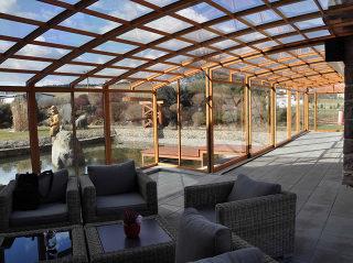 Überdachung CORSO Premium für Hotels, Restaurants und Cafés
