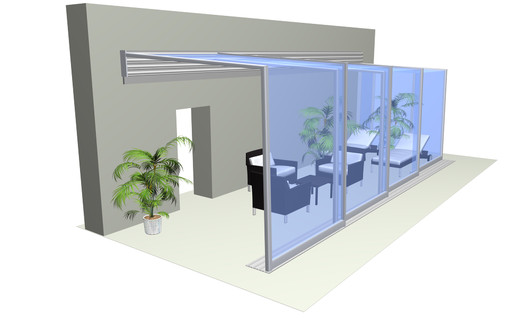 HORECA Überdachung CORSO Glass