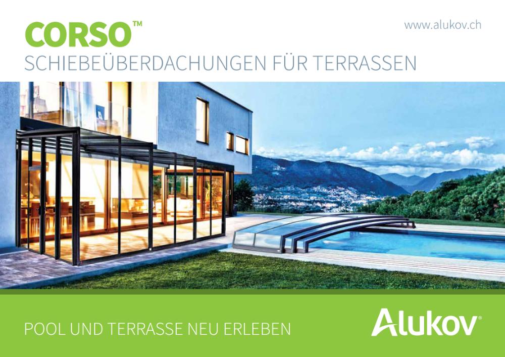Terrassen Pool katalog zum herunterladen alukov schweiz