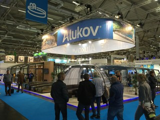 Alukov Messestand auf Aquanale