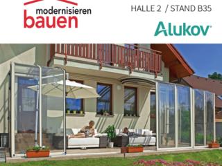Bauen und Modernisieren Zürich 2015 - Alukov Schweiz ist dort aus !