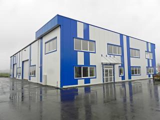 Das Entwicklungsgebäude der Firma ALUKOV