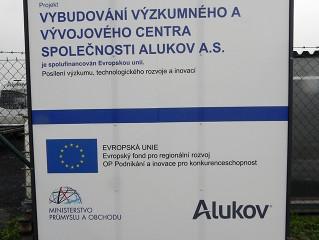 Das Innovationszentrum in ALUKOV teilweise durch Europäische Dotation finanziert