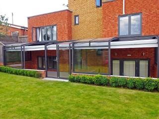 Lange Terrassenüberdachung Corso Premium in Anthrazit DB 703