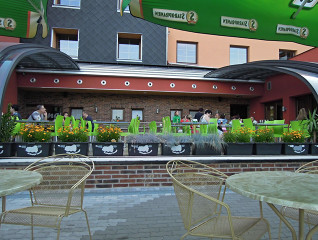 Offene Terrassenüberdachung CORSO Style beim Hotel