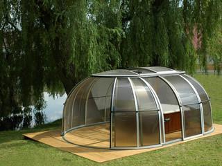Whirlpoolüberdachung SPA SUNHOUSE passt in jeden Garten