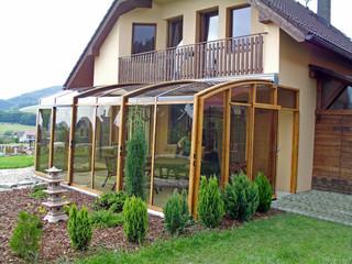 Geschlossene Terrassenüberdachung kann man kinderleicht wegschieben