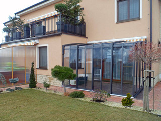 Schiebeüberdachung für Ihre Terrasse für ganzjährige Nutzung