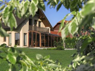 Terrassenüberdachung CORSO™ im Holzdekor