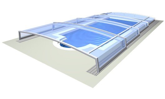 Pool enclosure AZURE Angle compact