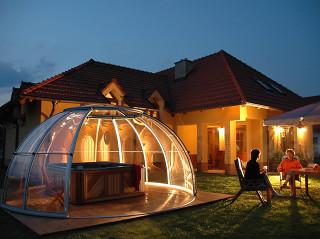 Retractable hot tub enclosure SPA DOME ORLANDO