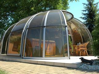 Retractable jacuzzi enclosure SPA SUNHOUSE