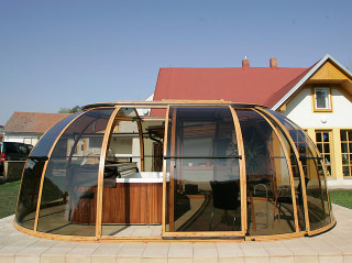 High hot tub enclosure SPA SUNHOUSE by Alukov