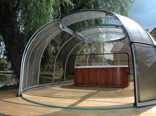 Openable jacuzzi enclosure SPA SUNHOUSE