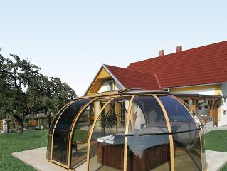 Sliding hot tub enclosure SPA SUNHOUSE by Alukov