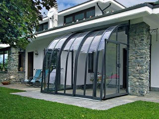 Smaller patio enclosure CORSO Entry in anthracite color