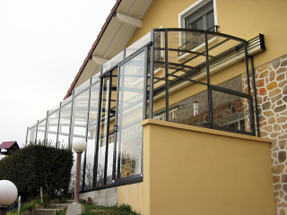Retractable patio cover CORSO Solid by Alukov 45