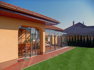 Veranda enclosure CORSO by Alukov - anthracite