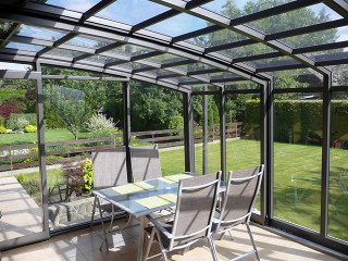 Patio enclosure CORSO made by Alukov - anthracite color