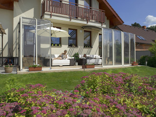 Retractable patio cover CORSO Solid by Alukov 24