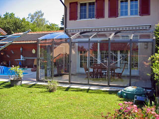 Retractable patio cover CORSO Solid by Alukov 35