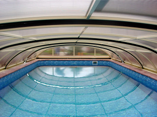 Swimming pool cover ELEGANT in the summer time