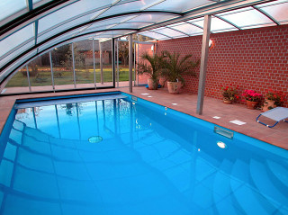 Swimming pool enclosure RAVENA - anthracite color