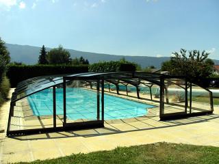 Retractable pool enclosure VENEZIA