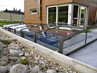 Pool enclosure VIVA increases quailty of water in your pool