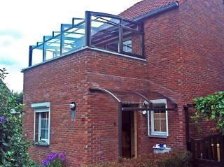 Patio enclosure CORSO Premium as a balcony enclosure