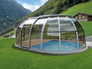 Hot tub enclosure Spa Sunhouse with great view on mountains