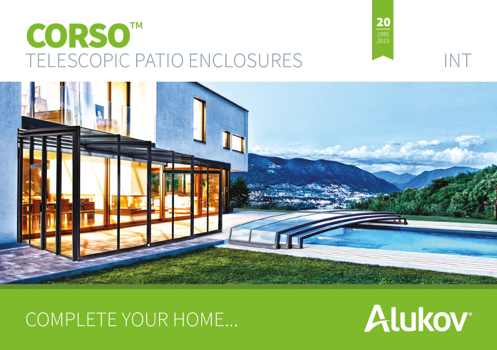 Catalogue of terrace enclosures CORSO from Alukov