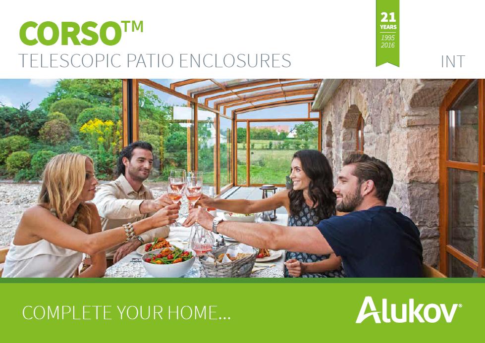 Catalogue of terrace enclosures Corso