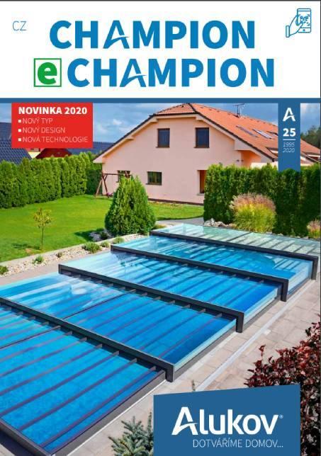 Katalog zastřešení bazénů Champion ke stažení